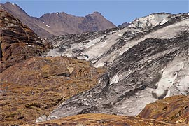 Ablation area of the glacier